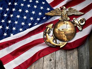 Poster Eagle Marine Eagle, Globe and Anchor.