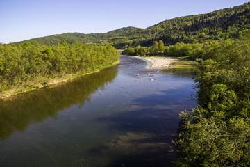river Striy at the Carpathian mountains