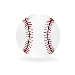 Baseball ball on white vector design logo image