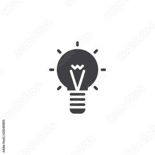 Light Bulb Vector Icon Filled Flat Sign For Mobile Concept And Web