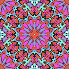 Beautiful fantasy flower ornament. seamless art-deco pattern. vector illustration. for design, wallpaper, invitation.