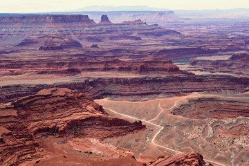 Dead horse point view, rocky landscape Utah USA