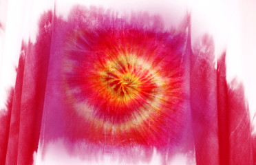 Tie dyed pattern cotton fabric abstract for background