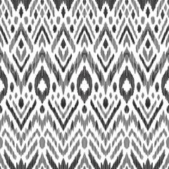Fotobehang Boho Stijl Tribal pattern. Seamless background. Scribble texture. Black and white graphic design. Creative vector illustration. Ethnic boho ornament. Impressive fashion print.
