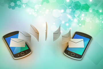 e-mail sharing between smart phone