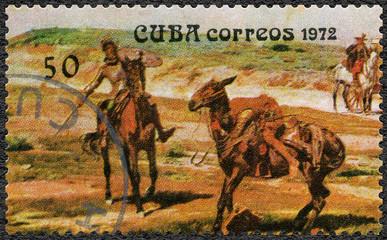 CUBA - 1972: dedicated the Miguel de Cervantes Saavedra (1547-1616), Spanish author