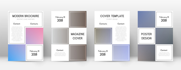 Flyer layout. Business cute template for Brochure, Annual Report, Magazine, Poster, Corporate Presentation, Portfolio, Flyer. Adorable color transition cover page.
