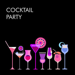 Cocktails vector background