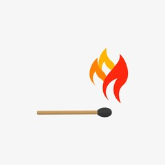 match stick with fire