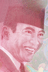 Ahmed Soekarno portrait from Indonesian money