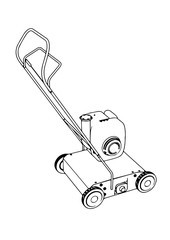 sketch of a lawn mower vector