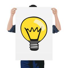 idée - ampoule - concept - conception - créatif - homme - entreprise - réfléchir - créativité - symbole