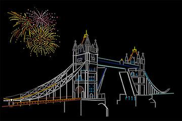 Salute over Tower Bridge