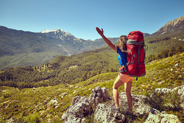 Traveling is a tourist route with a backpack