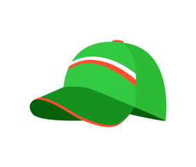 Sketch of Green Cap, Colorful Vector Illustration