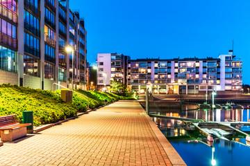 Modern residential district real estate Fotomurales