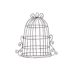 Vintage decorative birdcage.