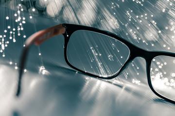 occhiali da vista con fibre ottiche