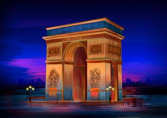 Arc De Triomphe world famous historical monument of Paris