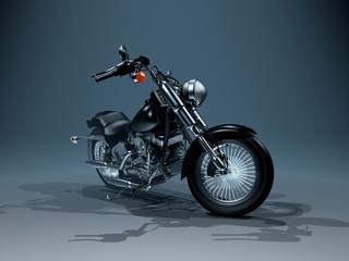 Glänzendes Motorrad mit viel Blech und Chrom