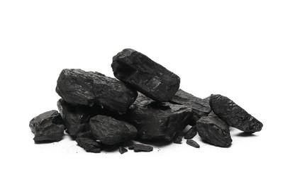 Coal pile isolated on white background