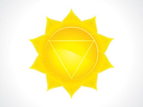 abstract artistic yellow solar plexus chakra