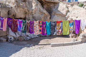Turkey scarf at the street