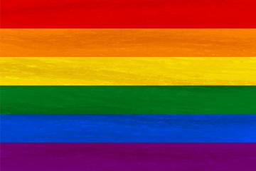 Lesbian, gay, bisexual, transgender LGBT pride flag. Rainbow flag. Gay and lesbian love. Watercolor imitation