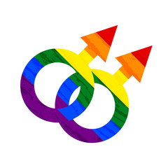 Lesbian, gay, bisexual, transgender LGBT pride symbol and sign. Gay and lesbian love. Rainbow vector