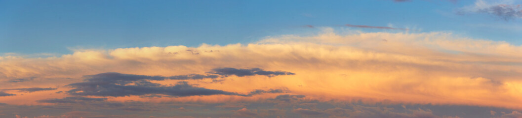 quaint clouds in the sky before sunset.
