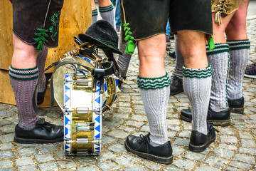 part of a typical bavarian musician