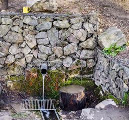 Natural source flows through a pipe