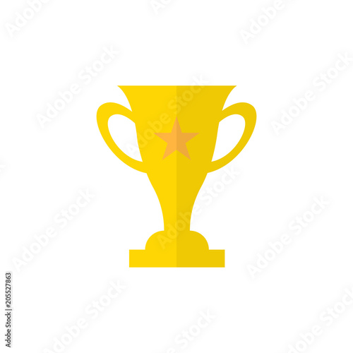 Trophy Star Icon Gold Prize Isolated Award Winner Prize