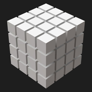big cube with cubic cuts