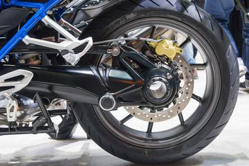 back wheel motorcycle with disk brake