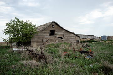 Old Barn with farm equipment