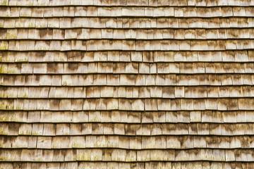 Holzhintergrund Aus Holzschindeln An Einer Hauswand   Wooden Background  Made Of Wooden Shingles On A House