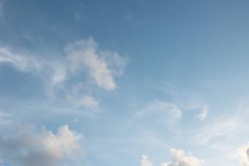 Blue sky white cloud blue background