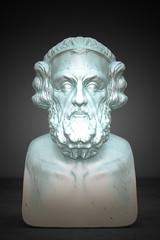 Busto di Omero, Scultura Classica, illustrazione 3d