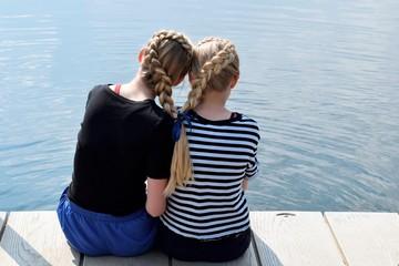 Beautiful friendship between two young girls
