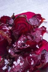 Beetroot crisps with Fleur de Sel