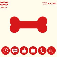 Bone symbol icon