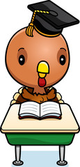 Cartoon Baby Turkey Student