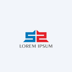 Letter S logo, SS letter logo.