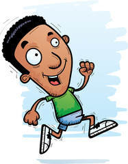 Cartoon Black Man Running