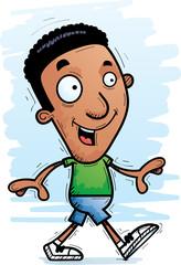 Cartoon Black Man Walking