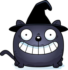 Cartoon Witch Cat Smiling