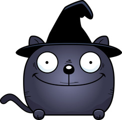 Cartoon Witch Cat Peeking