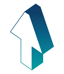 arrow up isometric icon vector illustration design