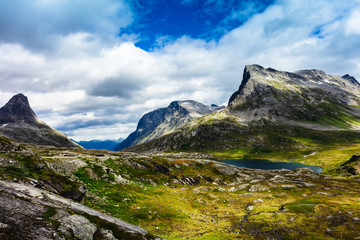 summer mountain landscape of Norway